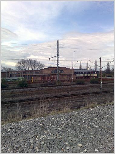 Bahnhof Bismarck- Blick von der Consoltrasse
