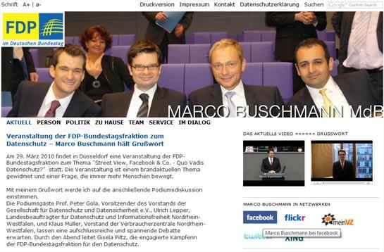 Marco Buschmanns neue Website.