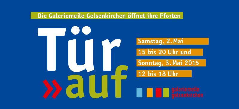 """Das kreative Gelsenkirchen oder konkreter: Die Gelsenkirchener Galeriemeile lädt am 2. und 3. Mai 2015  zum  """"Tür auf"""" Event nach Gelsenkirchen-Ückendorf."""