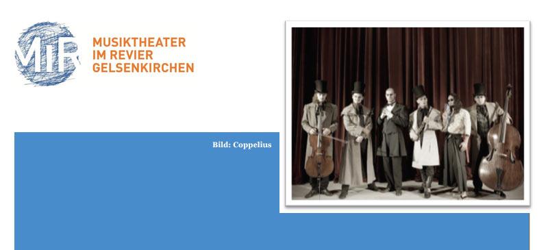 """Die Berliner Kammercore-Rockband """"Coppelius"""" ist in der vergangenen Woche in Gelsenkirchen eingetroffen."""