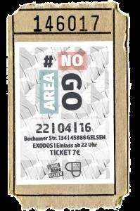 NoGoArea Ticket Vorverkauf