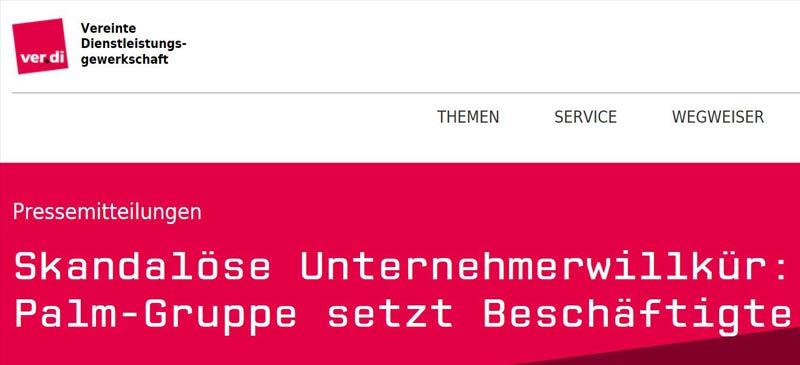 Wellpappe Insolvenz: Ver.di und Parteien kritisieren Palm scharf.