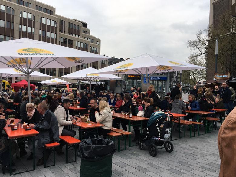 Gut besuchter Streetfood Markt in Gelsenkirchen